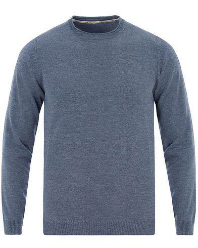Stenströms Knitted Crew Neck Blue i gruppen Kläder / Tröjor / Pullovers / Rundhalsade pullovers hos Care of Carl (13514111r)