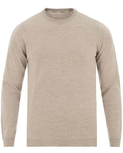 Stenströms Knitted Crew Neck Beige Melange i gruppen Design A / Tröjor / Pullovers / Rundhalsade pullovers hos Care of Carl (13514211r)