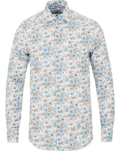 Stenströms Slimline Printed Flower Shirt White i gruppen Skjortor / Casual skjortor hos Care of Carl (13514611r)