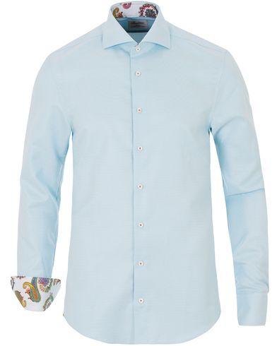 Stenströms Slimline Contrast Paisley Shirt Aqua Blue i gruppen Kläder / Skjortor hos Care of Carl (13514811r)