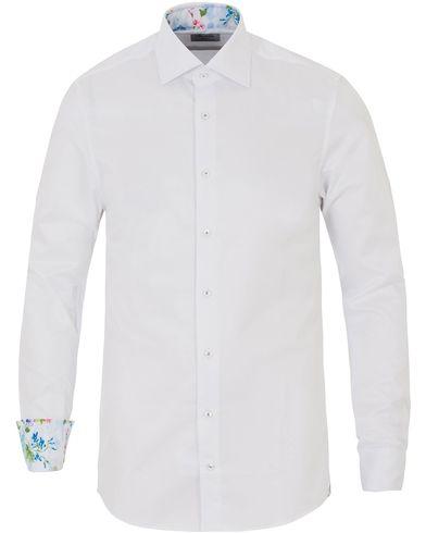 Stenströms Slimline Contrast Flower Shirt White i gruppen Kläder / Skjortor hos Care of Carl (13515011r)