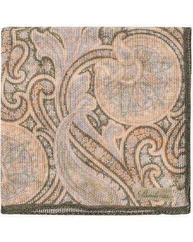 Stenströms Printed Paisley Cotton/Linen Pocket Square Multi  i gruppen Design A / Accessoarer / Näsdukar hos Care of Carl (13519010)