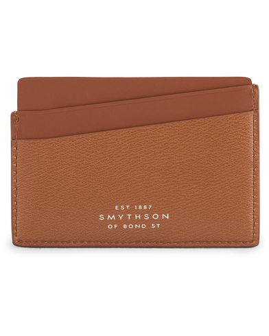 Smythson Grosvenor Leather Card Holder Tan  i gruppen Accessoarer / Plånböcker / Korthållare hos Care of Carl (13520310)