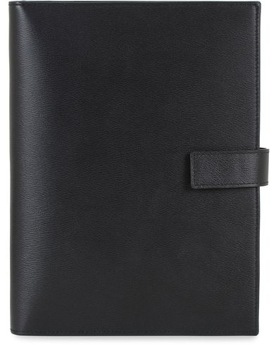 Smythson Grosvenor Leather A5 Lippiatt Notebook Black  i gruppen Accessoarer / Pennor & anteckningsböcker hos Care of Carl (13520510)