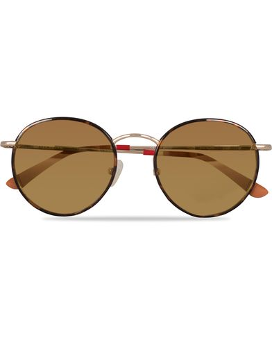 Orlebar Brown OB19C6SUN Sunglasses T-Shell Havana  i gruppen Accessoarer / Solglasögon / Runda solglasögon hos Care of Carl (13520810)