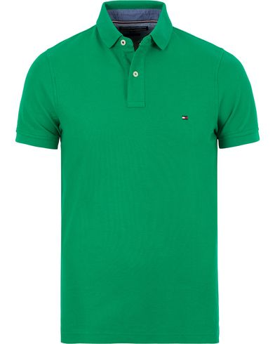 Tommy Hilfiger Performance Slim Fit Polo Golf Green i gruppen Pikéer / Kortärmade pikéer hos Care of Carl (13526111r)