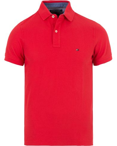 Tommy Hilfiger Performance Slim Fit Polo Mars Red i gruppen Kläder / Pikéer / Kortärmade pikéer hos Care of Carl (13526211r)
