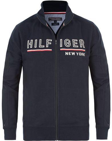 Tommy Hilfiger Demi Zip Trough Sweater Midnight i gruppen Tröjor / Zip-tröjor hos Care of Carl (13526311r)