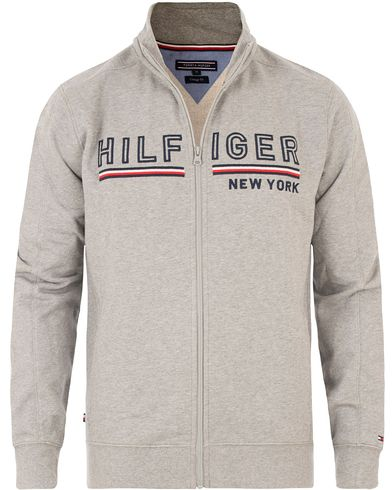 Tommy Hilfiger Demi Zip Trough Sweater Grey Heather i gruppen Tröjor / Zip-tröjor hos Care of Carl (13526411r)