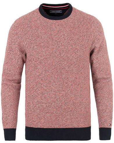 Tommy Hilfiger Danford Knitted Crew Neck Mars Red i gruppen Tröjor / Stickade tröjor hos Care of Carl (13527811r)