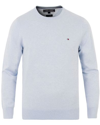 Tommy Hilfiger Plaited Cotton/Silk Knitted Crew Neck Heather i gruppen Kläder / Tröjor / Pullovers / Rundhalsade pullovers hos Care of Carl (13528611r)