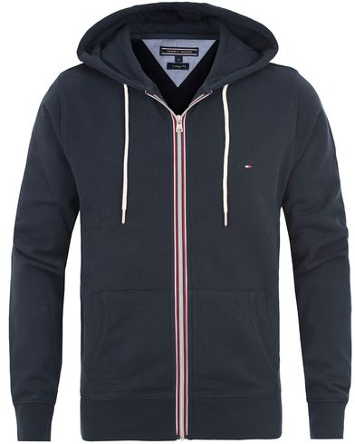 Tommy Hilfiger Basic Zip Trough Hoodie Midnight i gruppen Kläder / Tröjor / Huvtröjor hos Care of Carl (13530411r)
