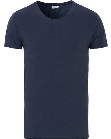 Filippa K Melange Roll Edge Tee Navy i gruppen T-Shirts / Kortärmade t-shirts hos Care of Carl (13534111r)