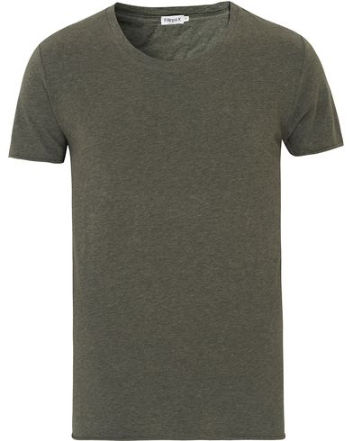 Filippa K Melange Roll Edge Tee Airforce i gruppen T-Shirts / Kortärmade t-shirts hos Care of Carl (13534211r)