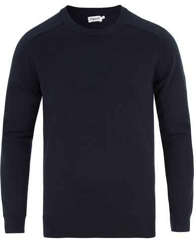 Filippa K Cotton/Merino Sweater Navy i gruppen Tröjor / Pullovers / Rundhalsade pullovers hos Care of Carl (13534511r)