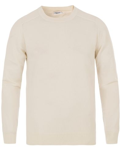 Filippa K Cotton/Merino Sweater Ecru i gruppen Design A / Tröjor / Pullovers / Rundhalsade pullovers hos Care of Carl (13534611r)