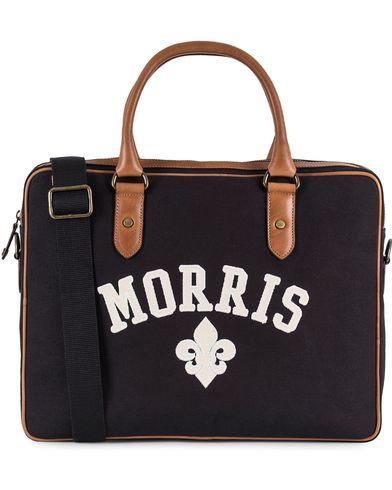 Morris Canvas Computer Bag Navy/Cognac  i gruppen Väskor / Portföljer hos Care of Carl (13536610)