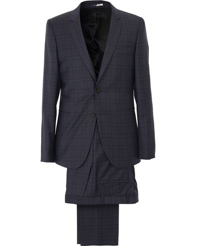 PS by Paul Smith Check Wool Suit Deep Blue i gruppen Kavajer / Enkelknäppta kavajer hos Care of Carl (13537511r)