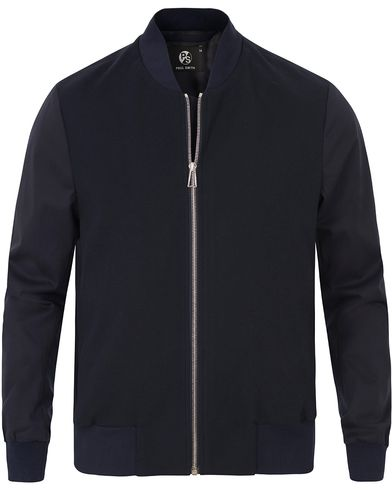 PS by Paul Smith Bomber Sweatshirt Navy i gruppen Tröjor / Zip-tröjor hos Care of Carl (13538011r)