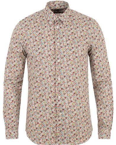 PS by Paul Smith Printed Flower Tailored Fit Shirt White i gruppen Skjortor / Casual skjortor hos Care of Carl (13538711r)