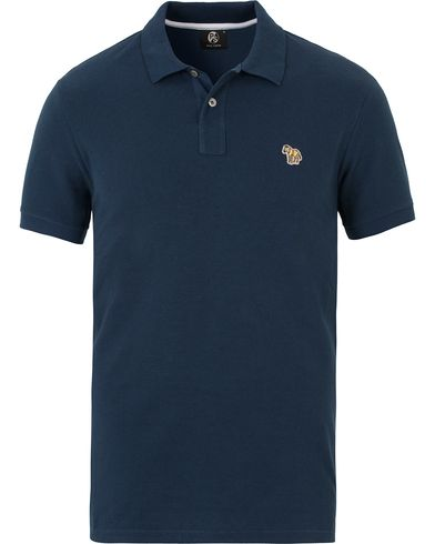 PS by Paul Smith Slim Fit Polo Blue i gruppen Kläder / Pikéer / Kortärmade pikéer hos Care of Carl (13539311r)