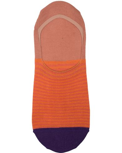 Paul Smith Two Stripe No Show Sock Orange  i gruppen Underkläder / Strumpor / Ankelstrumpor hos Care of Carl (13541910)