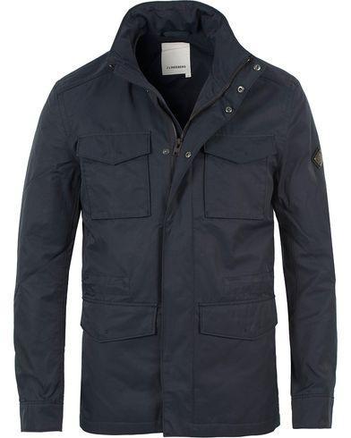 J.Lindeberg Farren 72 Cotton Twill Field Jacket Navy i gruppen Jackor / Fieldjackor hos Care of Carl (13544511r)