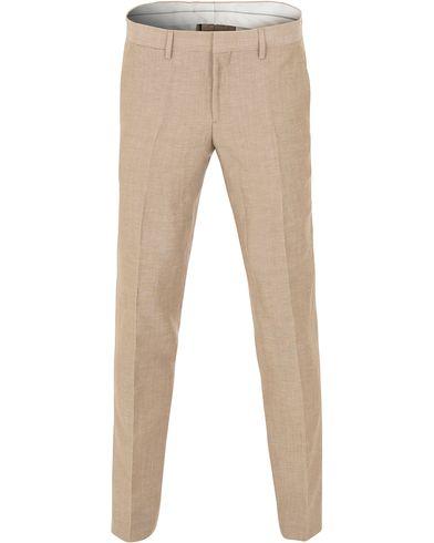 J.Lindeberg Paulie Dressed Linen Trousers Beige i gruppen Kläder / Byxor / Linnebyxor hos Care of Carl (13545311r)