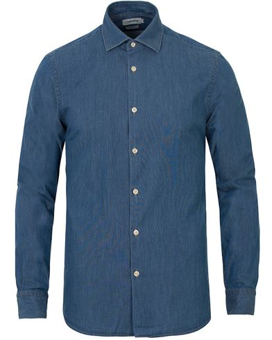 J.Lindeberg Daniel Washed Chambray Shirt Light Indigo i gruppen Skjortor / Oxfordskjortor hos Care of Carl (13548611r)