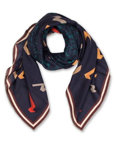 Bally Mix Wool Printed Scarf Multi Blue Navy  i gruppen Accessoarer / Scarves hos Care of Carl (13550610)