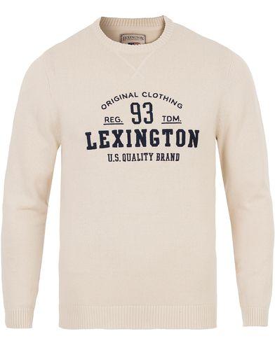 Lexington Nelson Knitted Sweatshirt Shell White i gruppen Tröjor / Stickade tröjor hos Care of Carl (13551211r)