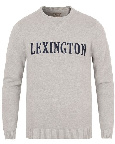 Lexington Nelson Knitted Sweatshirt Light Warm Grey Melange i gruppen Tröjor / Stickade tröjor hos Care of Carl (13551411r)