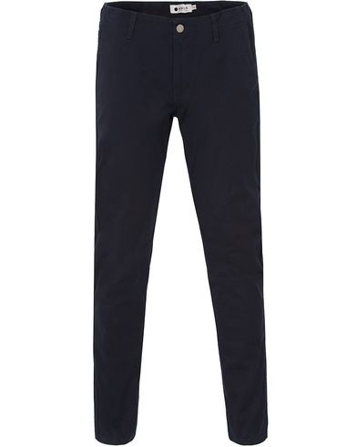 NN07 Simon Stretch Chinos Navy i gruppen Byxor / Chinos hos Care of Carl (13559211r)