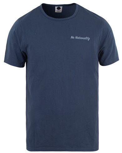 NN07 Basic Print Tee 3234 Blue i gruppen T-Shirts / Kortärmade t-shirts hos Care of Carl (13559711r)