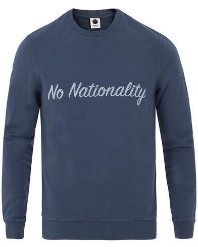 NN07 Base Print Sweatshirt Light Navy i gruppen Kläder / Tröjor / Sweatshirts hos Care of Carl (13560411r)