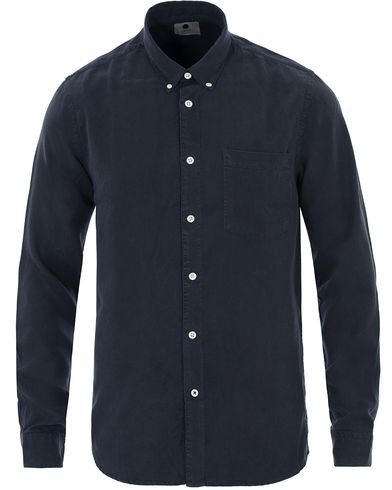 NN07 Falk Tencel Shirt Navy Blue i gruppen Skjortor / Casual skjortor hos Care of Carl (13560911r)
