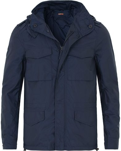 Aspesi Mini Field Wind Jacket Mid Blue i gruppen Kläder / Jackor / Fieldjackor hos Care of Carl (13569511r)