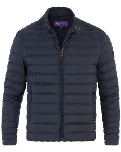 Ralph Lauren Purple Label Lawton Down Biker Jacket Classic Chairman Navy i gruppen Tøj / Jakker / Forede jakker hos Care of Carl (13569611r)