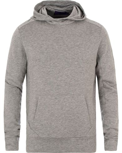 Ralph Lauren Purple Label Pima Lounge Hood Sweater Silver Melange i gruppen Tøj / Trøjer / Hættetrøjer hos Care of Carl (13570811r)