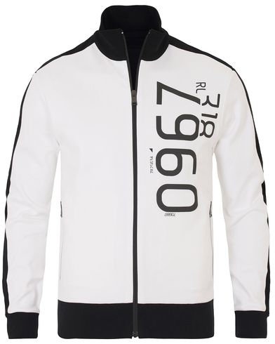 Ralph Lauren Purple Label Full Zip Jacket Pure White i gruppen Tröjor / Zip-tröjor hos Care of Carl (13571011r)