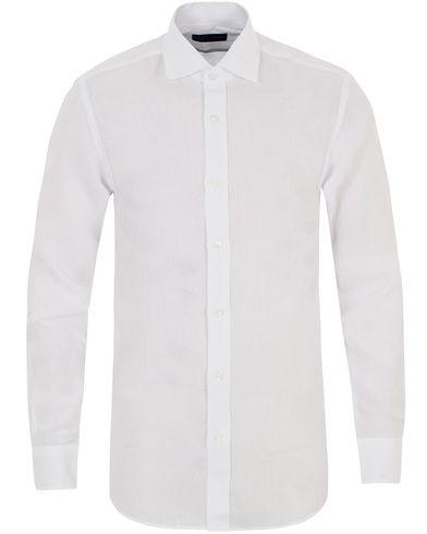 Ralph Lauren Purple Label Serengeti Linen Shirt White i gruppen Tøj / Skjorter / Hørskjorter hos Care of Carl (13571311r)