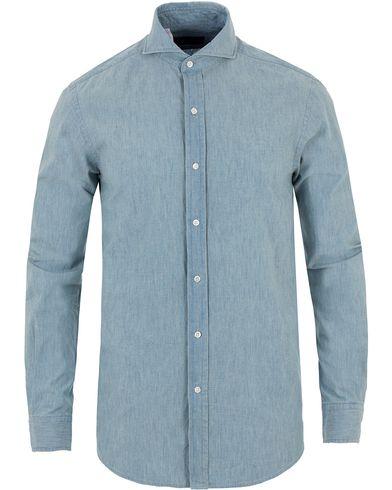 Ralph Lauren Purple Label Keaton Washed Chambray Shirt Bermuda i gruppen Tøj / Skjorter / Denimskjorter hos Care of Carl (13571511r)
