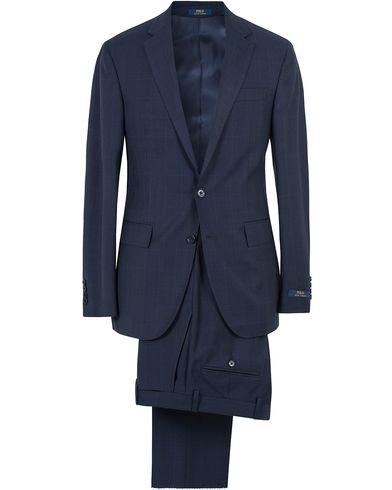 Polo Ralph Lauren Polo 1  Glenncheck Wool Suit Deep Blue i gruppen Design A / Kostymer hos Care of Carl (13572511r)