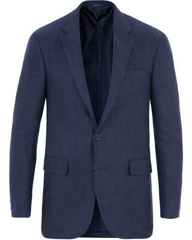 Polo Ralph Lauren Polo 1 Herringbone Blazer Blue i gruppen Kläder / Kavajer / Enkelknäppta kavajer hos Care of Carl (13572911r)