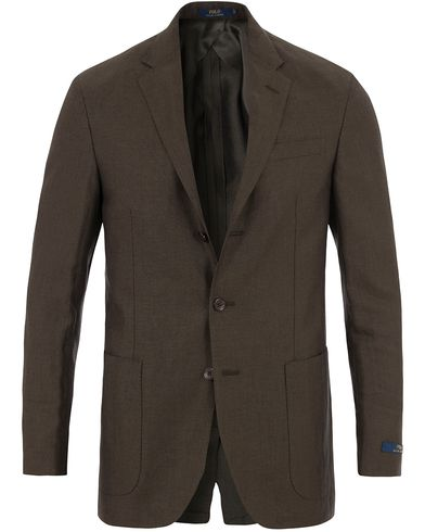 Polo Ralph Lauren Morgan Yale Linen/Wool Blazer Earth Green i gruppen Kläder / Kavajer / Enkelknäppta kavajer hos Care of Carl (13573011r)