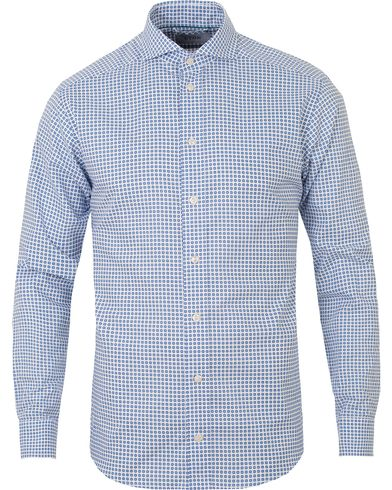 Eton Slim Fit Printed Medallion Shirt White i gruppen Kläder / Skjortor / Casual skjortor hos Care of Carl (13574211r)