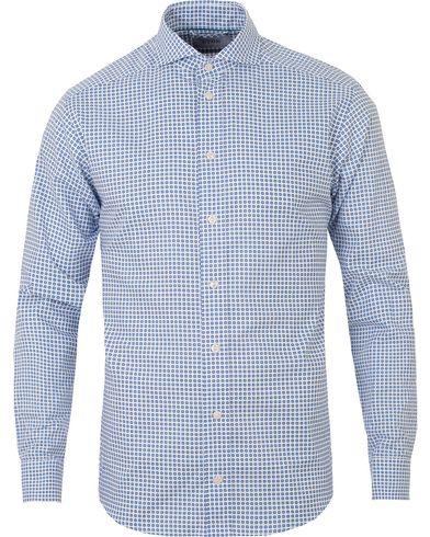 Eton Slim Fit Printed Medallion Shirt White i gruppen Skjortor / Casual skjortor hos Care of Carl (13574211r)