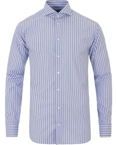 Eton Slim Fit Poplin Striped Shirt Light Blue i gruppen Skjortor / Formella skjortor hos Care of Carl (13574411r)