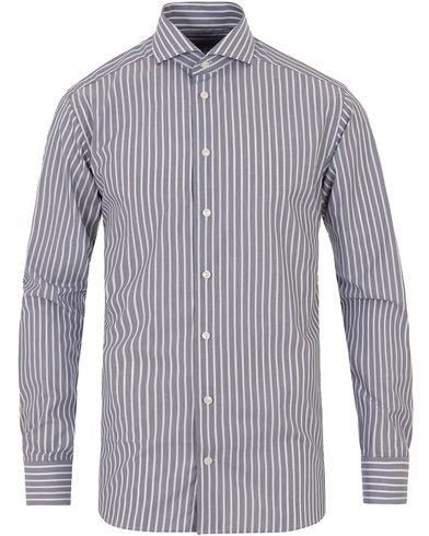 Eton Slim Fit Poplin Striped Shirt Dark Blue i gruppen Skjortor / Formella skjortor hos Care of Carl (13574511r)