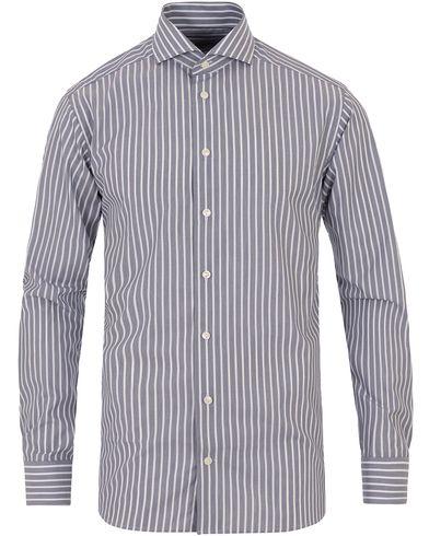 Eton Slim Fit Poplin Striped Shirt Dark Blue i gruppen Kläder / Skjortor / Formella skjortor hos Care of Carl (13574511r)